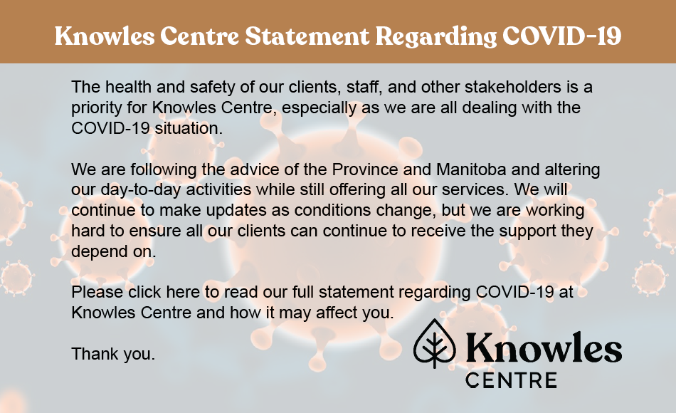 Knowles Centre Statement Regarding COVID-19