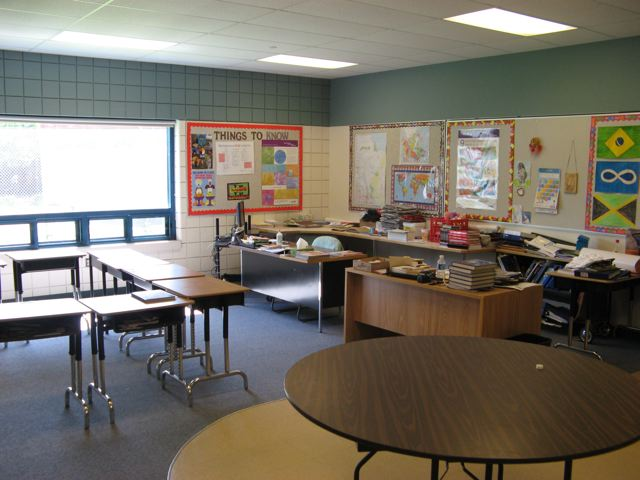 A classroom at John G. Stewart School
