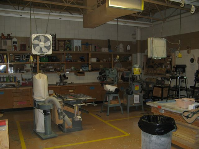 Woodworking room at John G. Stewart School